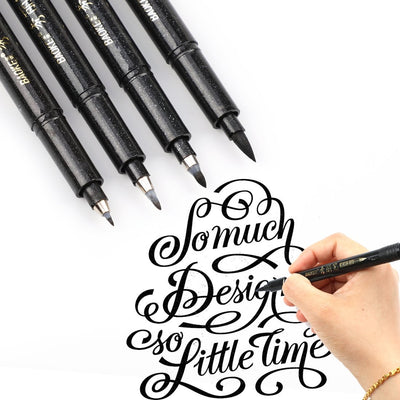 Calligraphy Brush Pens - 4 Set - Terra Art Shop