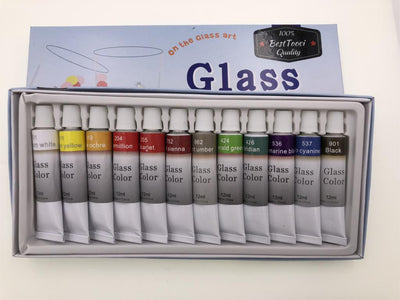 Glass Painting - 12 Acrylic Color Set