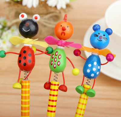 6 Piece Wooden Animal Pencil Set - Terra Art Shop