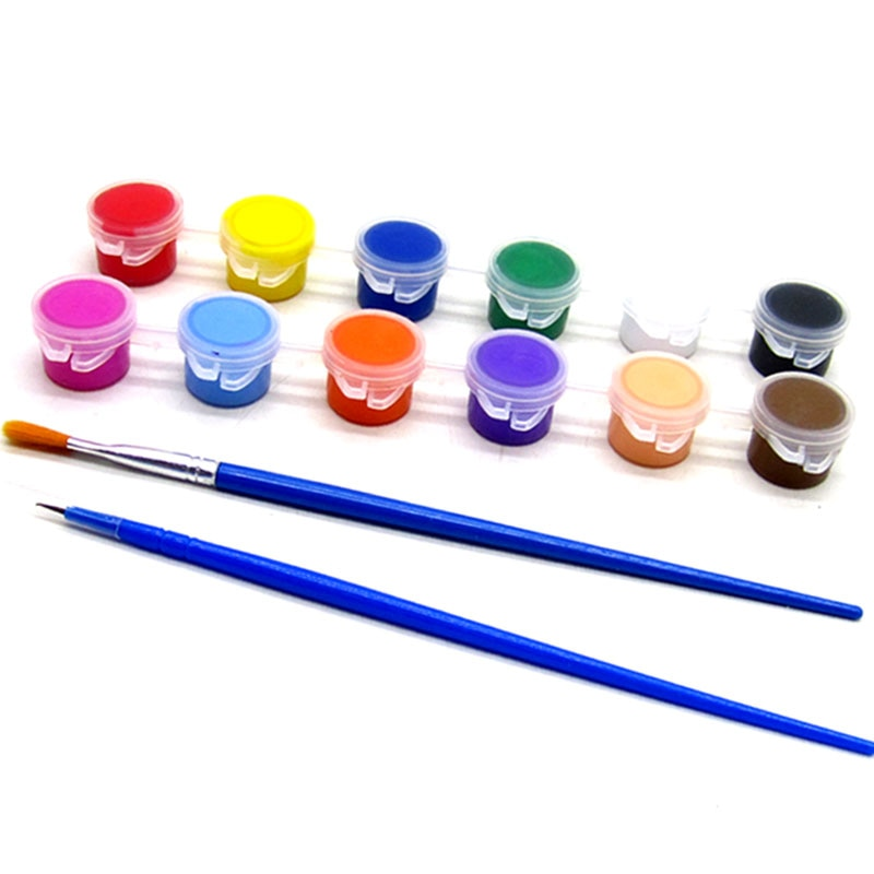12 Colors Acrylic Paint Pot Set - Terra Art Shop