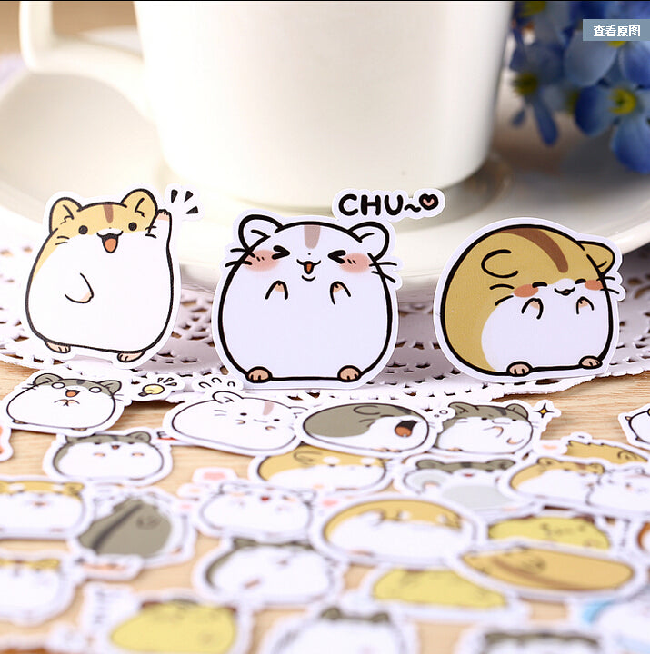 Hamster Emoji Sticker Set