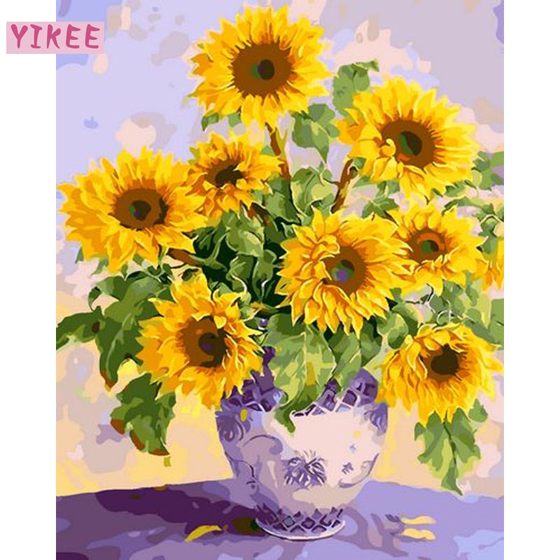 Sunflowers - Paint-By-Number Kit