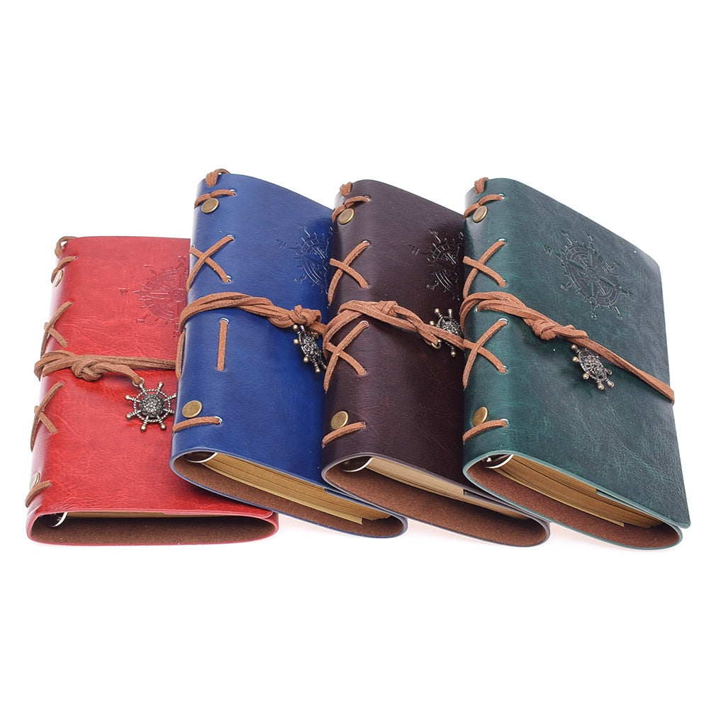 Antique Style Leather-Bound Notebook