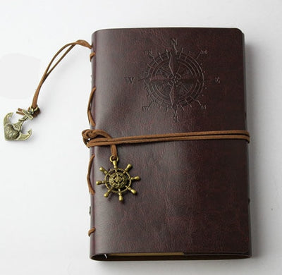 Antique Style Leather-Bound Notebook - Terra Art Shop