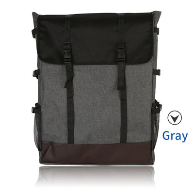 Light Gray / Blue Canvas Portable Drawing Bag
