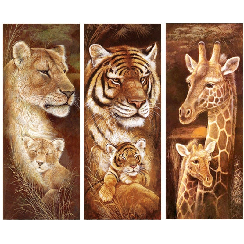 Wild Animals - Diamond Painting Kit