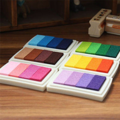 1 Set Multi-Color Ink-Pad Stamps - Terra Art Shop