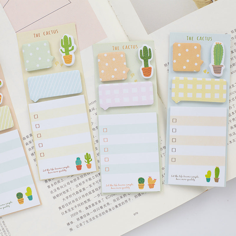 Cactus Sticky Note Memo Set
