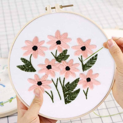 Floral Embroidery Kit