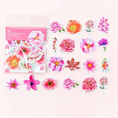 Mohamm Japanese Flower Journal Stickers