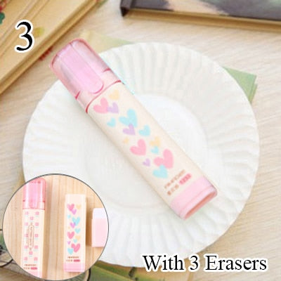 Heart Flower Rubber Erasers