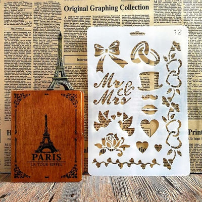 Design Stencils for Scrapbook