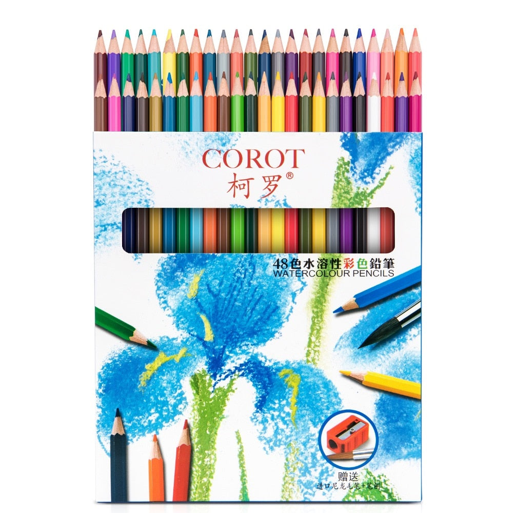 Watercolor Pencils - 48 Colors