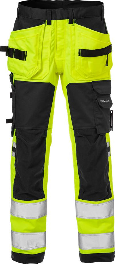 Fristads High vis rakentajan stretch housut lk 2 2612 PLUS