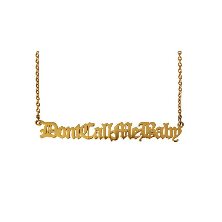 Don't call me baby - Halsband i guld