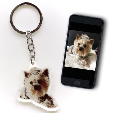 Image of CUSTOM ILLUSTRATION KEYCHAIN