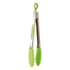 26cm Stainless Steel & Silicone Tongs - Green