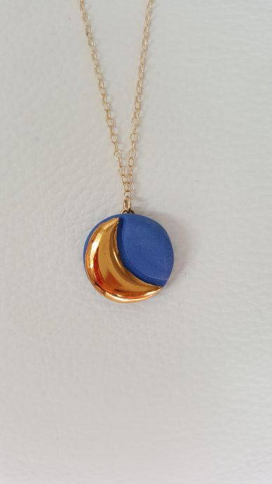 Danu Phases of the Moon Necklace - Blue