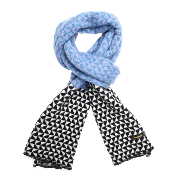 Heather Finn Triangles Scarf Blue