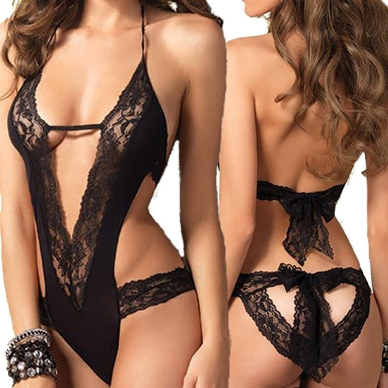 Hot Black Lace Erotic Lingerie Costumes | Transparent Temptation Sleepwear.lingerie,G Calibre