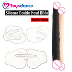 Toysdance 30CM Real Silicone Double Head Dildo Sex Products For Lesbian.double dildo,A.G. Calibre