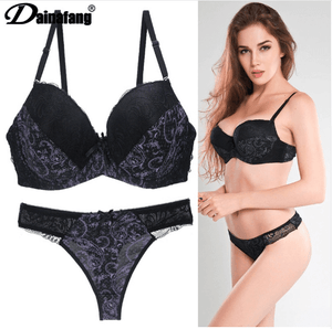 fcdbeed556270 Sexy Lingerie Thong Push Up Bra Set