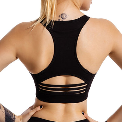 Women Sports Bra with Back Phone Pocket Success