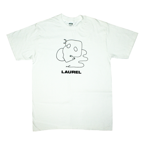 THE MUTTERINGS OF A LAUREL WHITE T-SHIRT