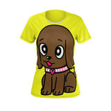 Miss Muddy Puppy Woman's T-shirt in yellow
