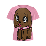 Miss Muddy Puppy  Girl's T-shirt
