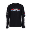 Punk Royal 'Buckley' Long Sleeved T Shirt - Black 1