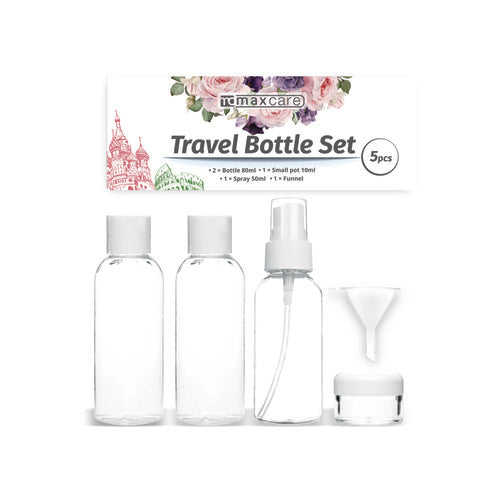5 Pcs Travel Bottle Set - Grocery Deals