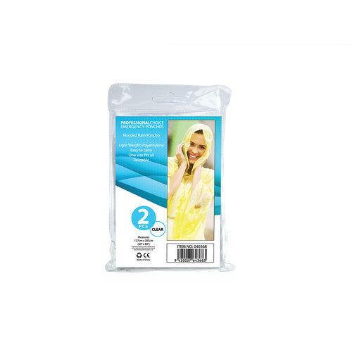 2Pk Emergency Poncho Clear - Grocery Deals