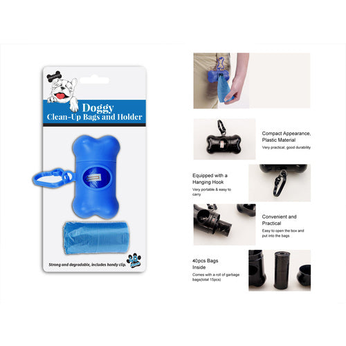 Max Treats Doggy Clean up Bags & Holder