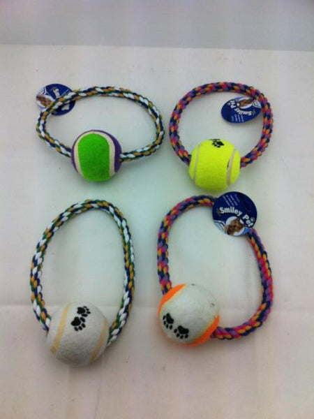 Round  Dog rope and tennis ball