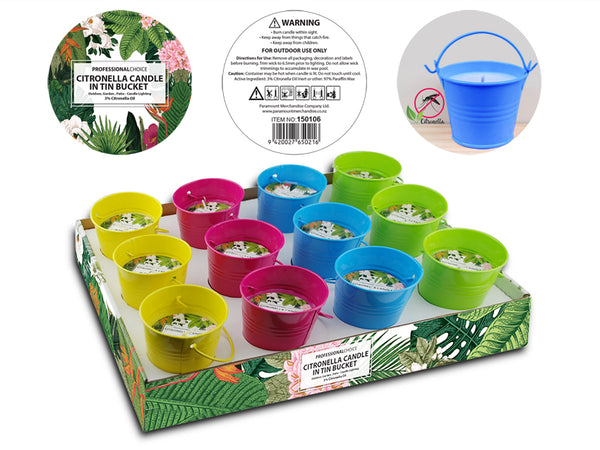 Citronella Bucket Candle - Grocery Deals