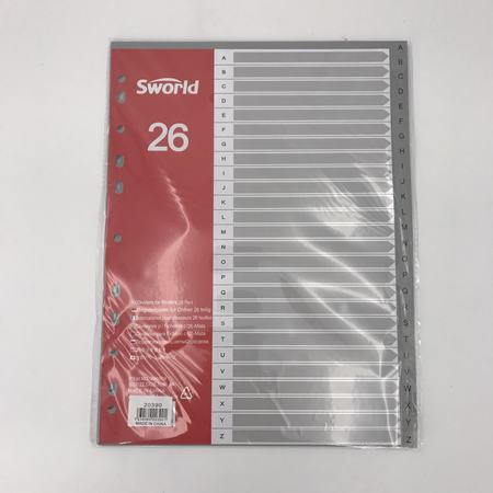 A4 Plastic A-Z Dividers - Grocery Deals