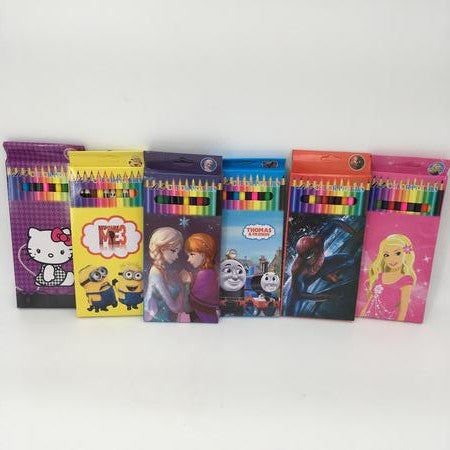 Spiderman 12 pack  colouring pencils - Grocery Deals
