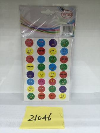 Smiley Face Stickers - Grocery Deals