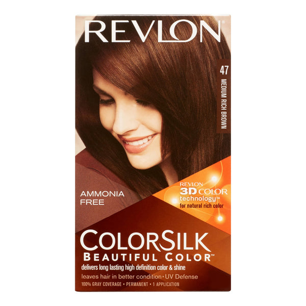 Revlon Colorsilk Medium Rich Brown 47