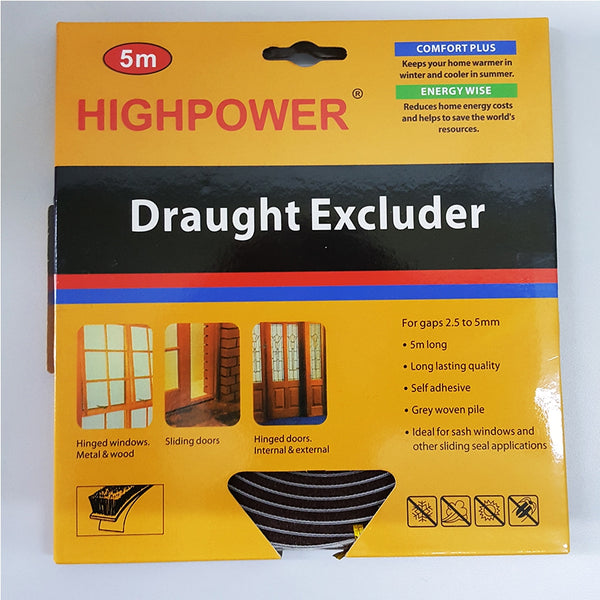 HighPower Door Window Draught Excluder 5m - Grocery Deals