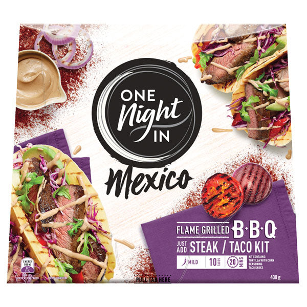 One Night In Mexican Flame Grilled BBQ Kit