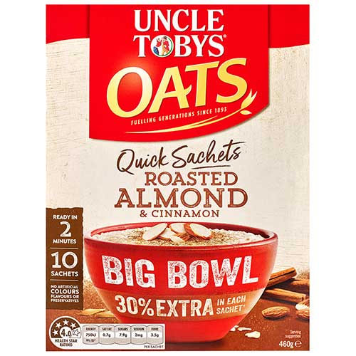 Uncle Tobys Oats Roasted Almond & Cinnamon