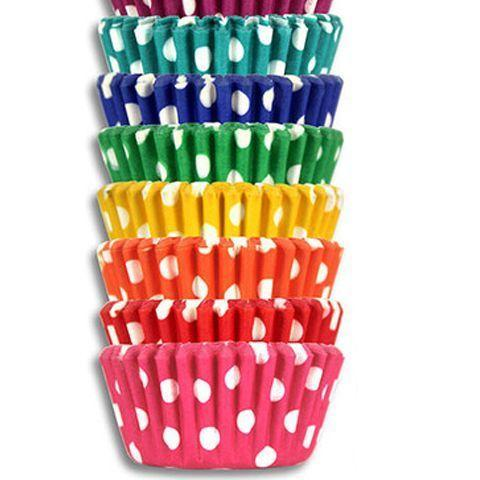 100 Bake Art  Large Coloured Dot Baking Cups - Grocery Deals