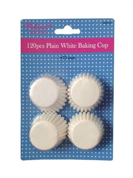 120 Bake Art  Plain White Baking Cups - Grocery Deals