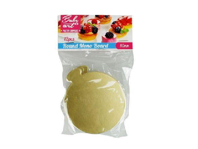Round Mono Boards Gold 8cm 12pcs - Grocery Deals