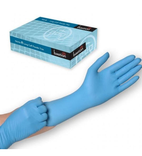 Bastion Long Cuff Powder Free Gloves - Grocery Deals