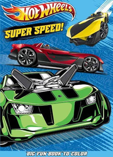 Hot Wheels Jumbo Coloring & Activity Book - Super Speed! - Grocery Deals