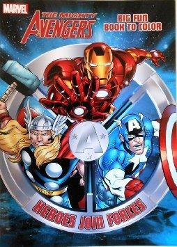 Marvel Avengers Big Fun Book to Color - Heroes Join Forces - Grocery Deals