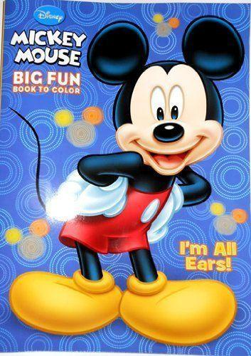 Mickey Mouse BIG FUN Book to Colour - I'm All Ears - Grocery Deals